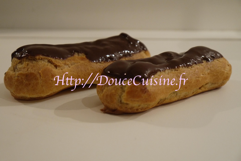 Eclair au chocolat douce cuisine - Glacage pour eclair au chocolat ...
