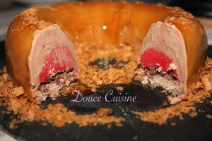 chocolat framboise glaçage caramel
